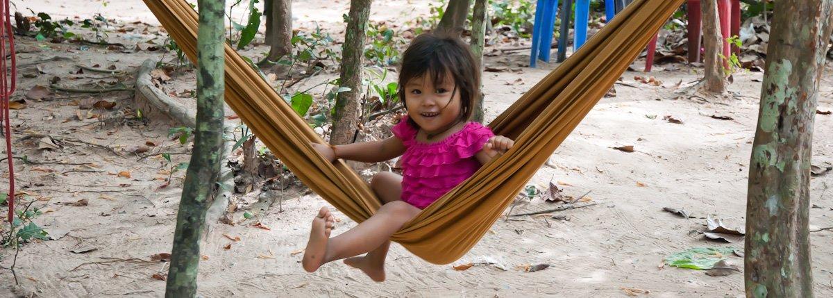 Mädchen bei Angkor Wat