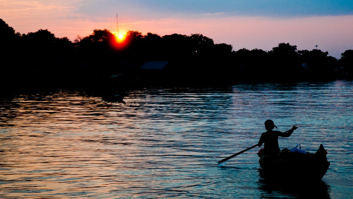 Sonnenuntergang am Ton Le Sap