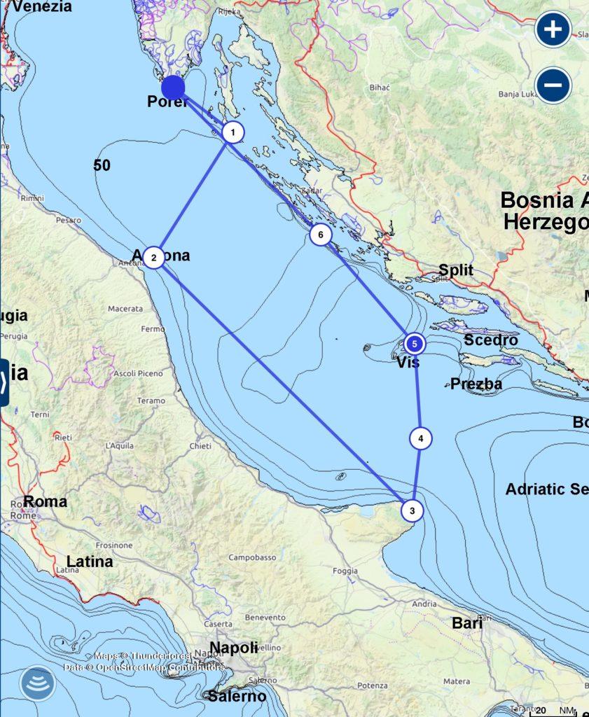 Törnplan Kroatien
