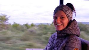 Am frühen Morgen ist es auch im afrikanischen Busch noch sehr kalt!